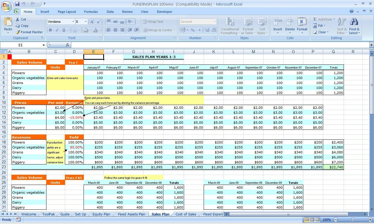 8  Financial Plan Templates Excel - Excel Templates